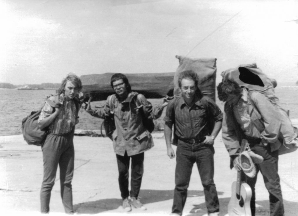Грушинский фестиваль, 1976 год, крайняя слева Полина Мошина