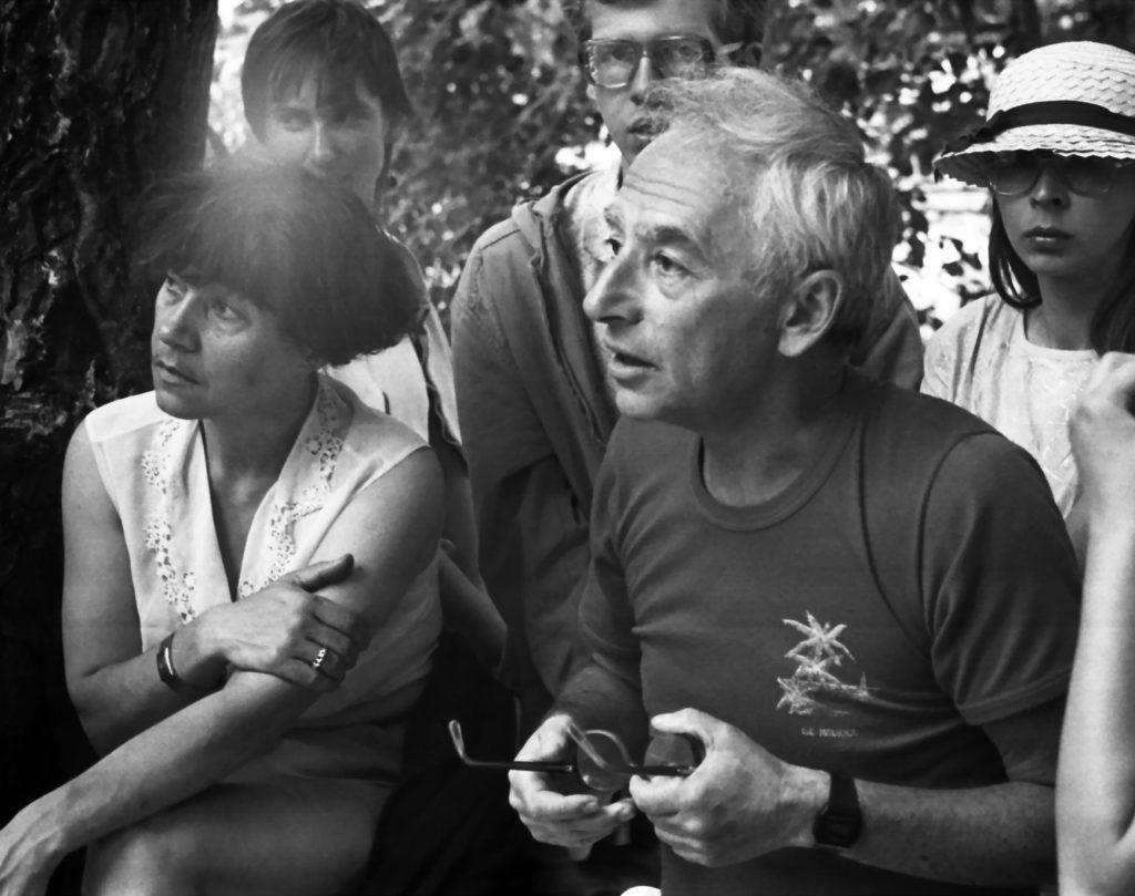 С Наталией Аккуратовой. Грушинский фестиваль, июль 1991 года