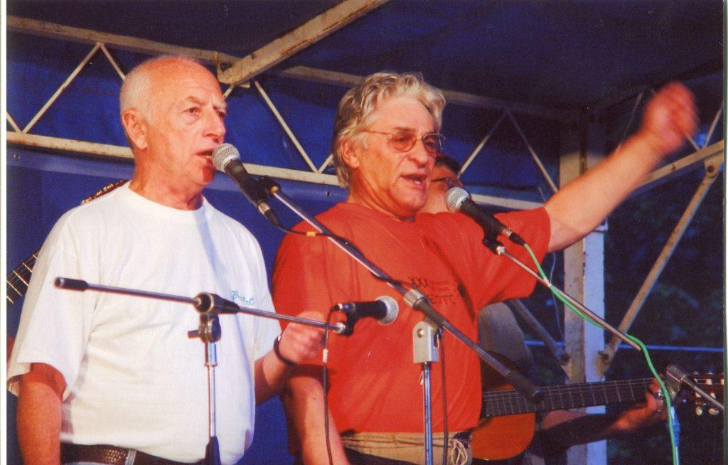 С Альфредом Тальковским на Грушинском фестивале, 04.07.2003