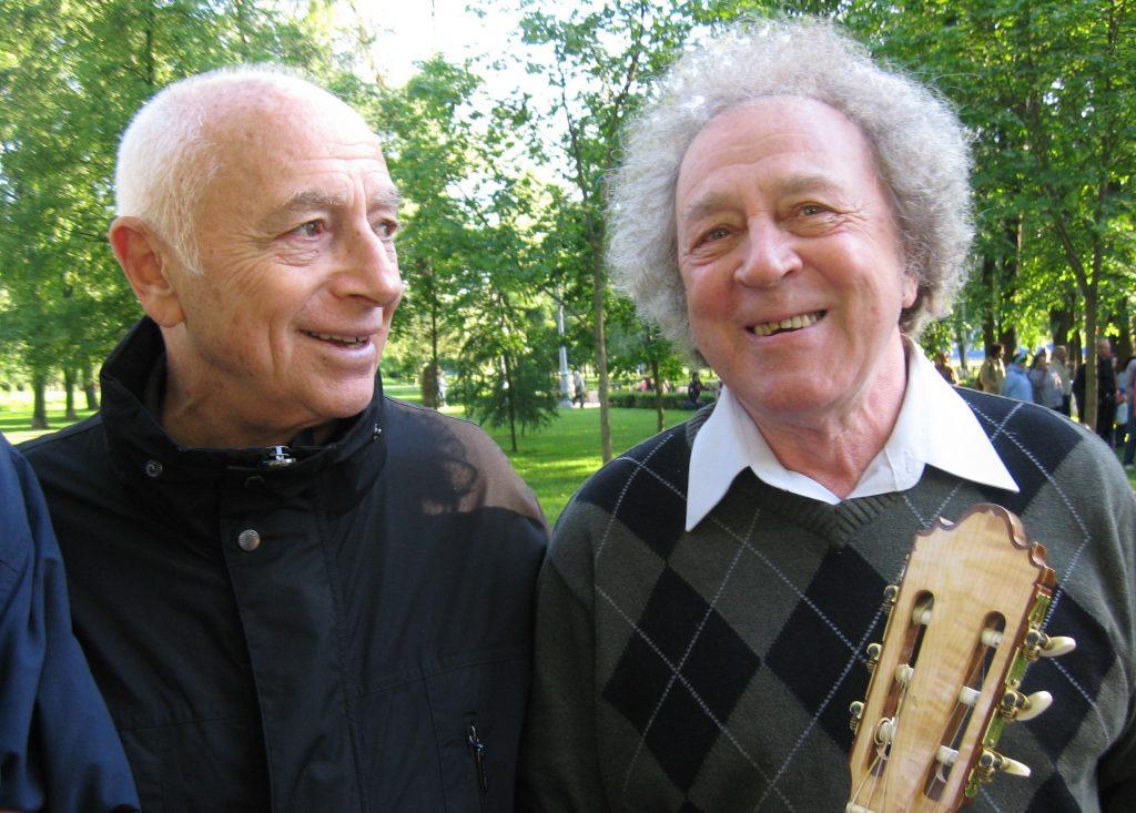 С Юрием Кукиным на Пушкинском Марафоне, Санкт-Петербург, 06.06.2009
