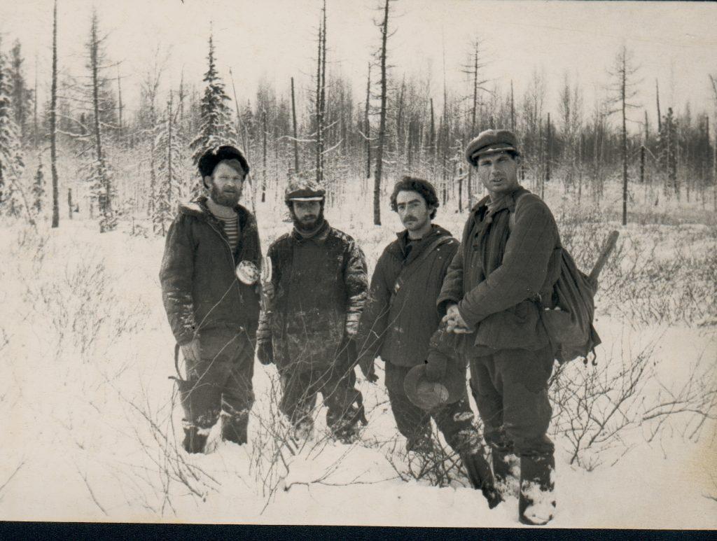 Александр Городницкий в экспедиции в Туруханском крае под Игаркой, 1960 год