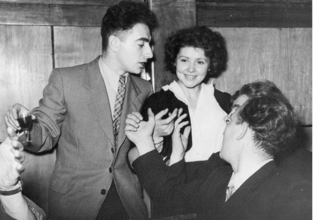 Празднование окончания института в Метрополе, 1957 год
