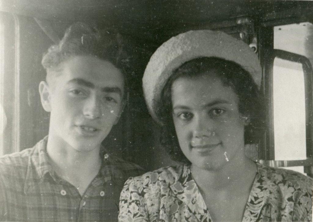 С Диной Лебедевой, 1953 год