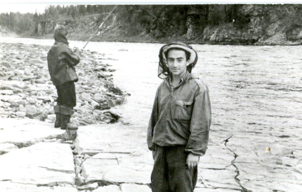 В экспедиции. Туруханский край, конец пятидесятых годов.