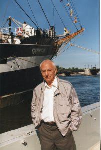 У «Крузенштерна», Санкт-Петербург, 25.08.1996