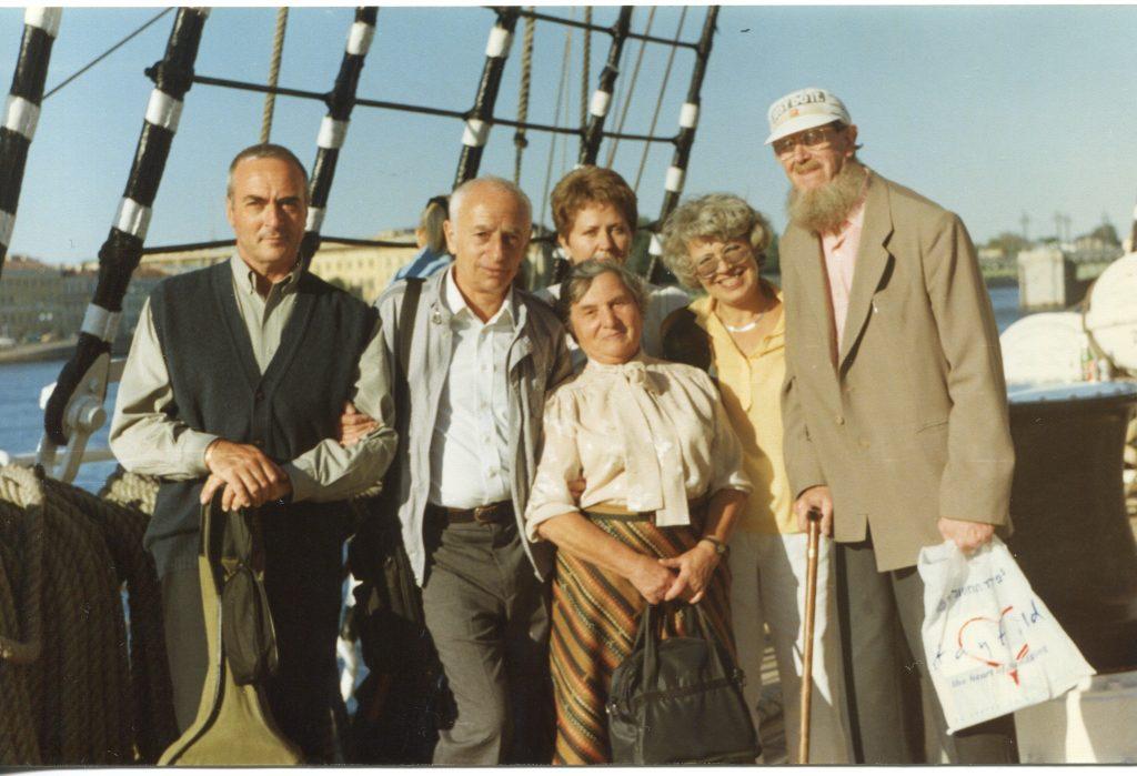 На палубе «Крузенштерна», Санкт-Петербург, 25.08.1996