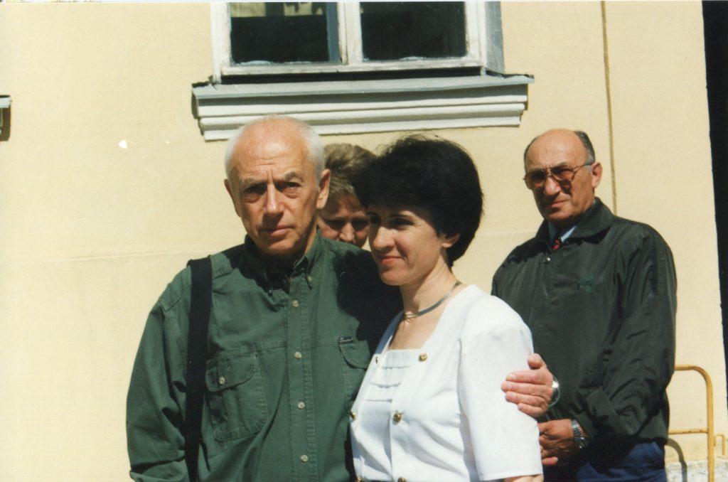 Александр Городницкий и Галина Седова на Мойке, 12, 06.06.1997