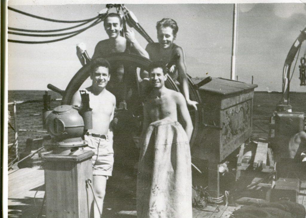 Александр Городницкий на «Крузенштерне», 1962 год
