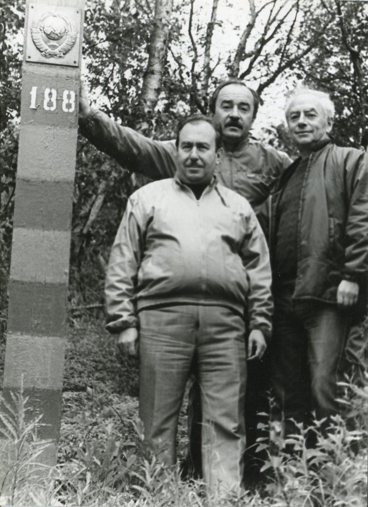 С Д. Губерманом, Норвежская граница, Кольский полуостров, 1989 год