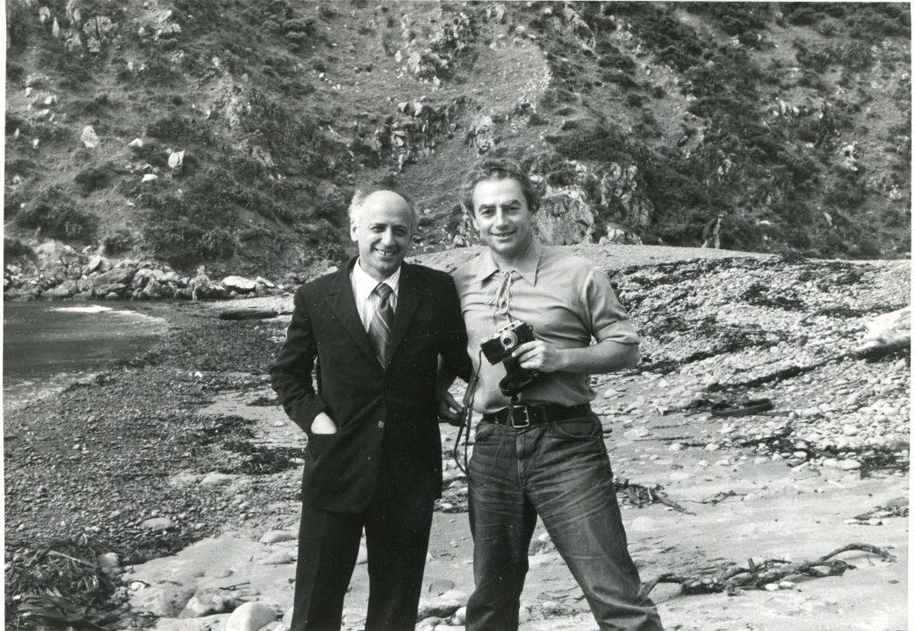 С В. Фрухтманом, Веллингтон, 1974 год