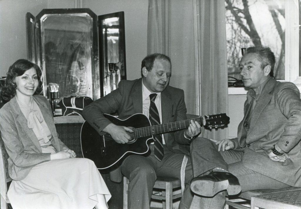 Александр Городницкий, Юрий Визбор и Татьяна Никитина, приблизительно 1979 год