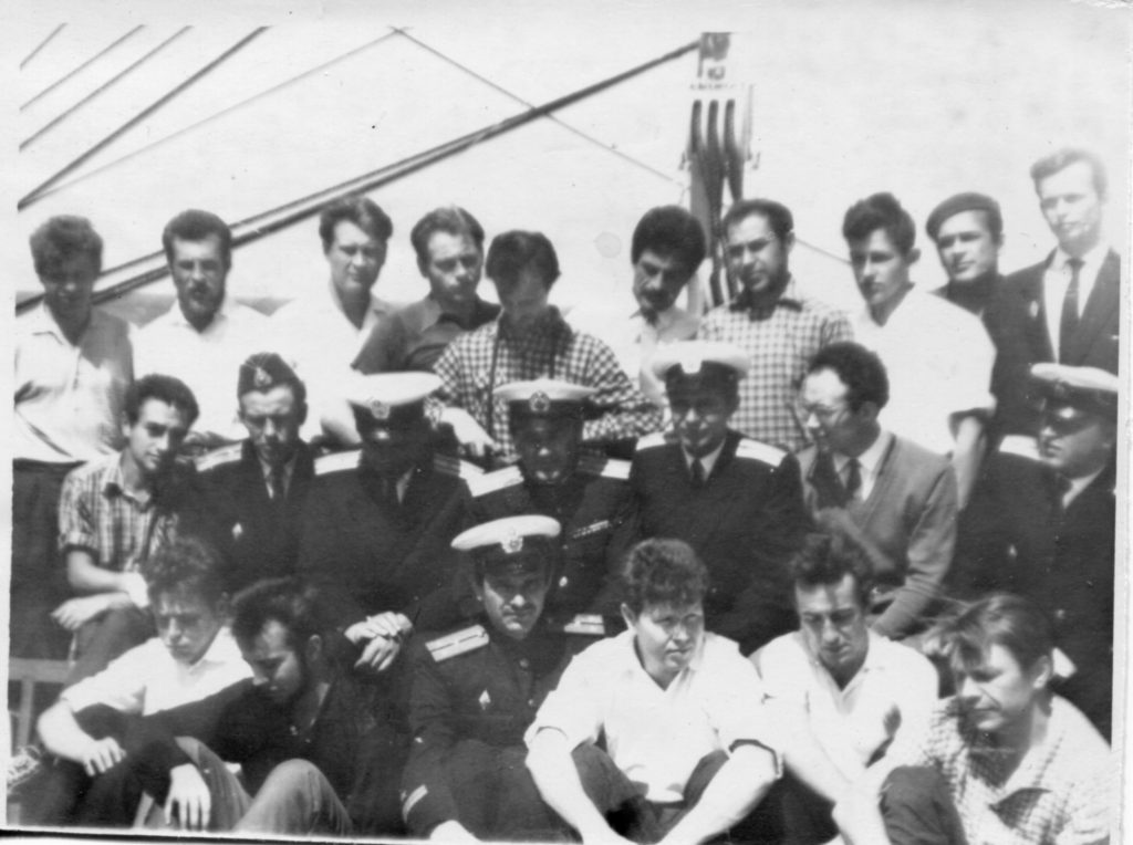На борту ЭОС «Крузенштерн», 1965 год