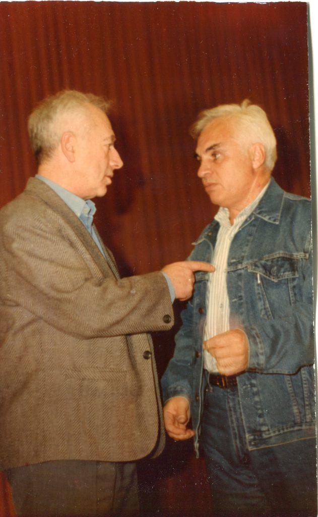 С Евгением Клячкиным, Москва, ноябрь 1991 года