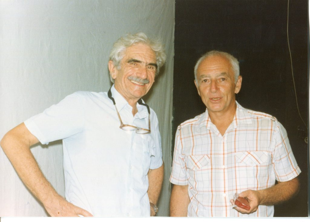 Александр Городницкий и Николай Трубятчинский, Беер-Шева, 1994 год