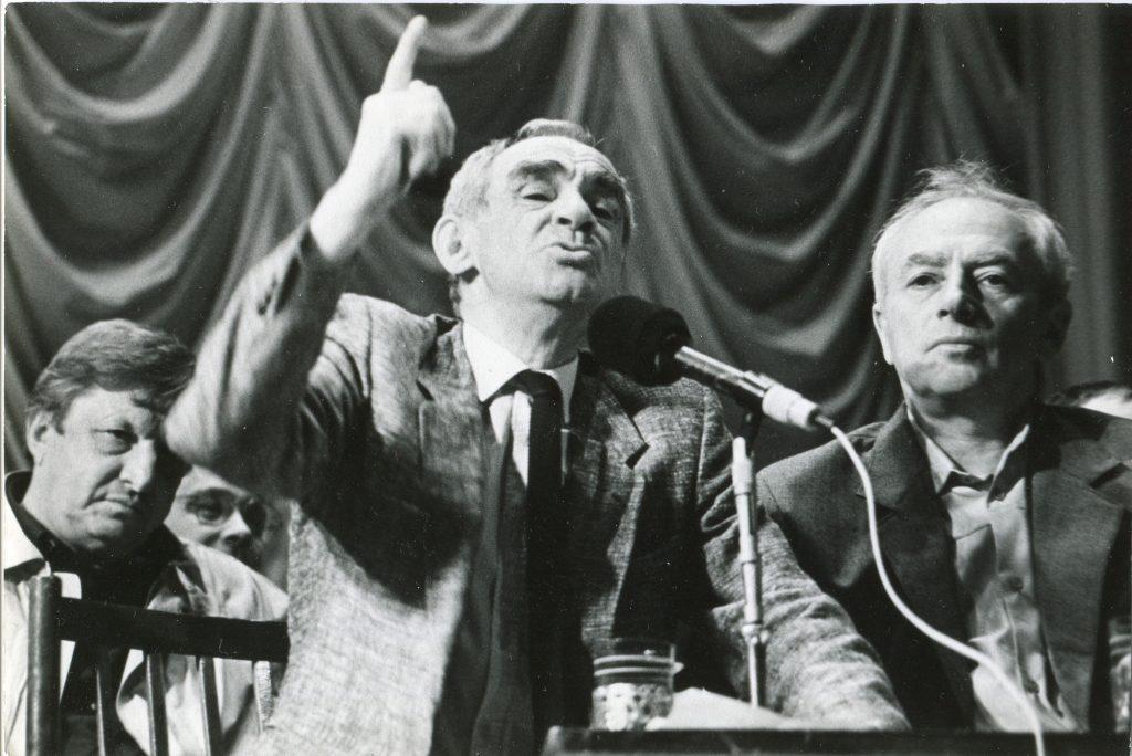 С Зиновием Гердтом и Виктором Берковским, ЛКЗ, Ленинград, 20.06.1990