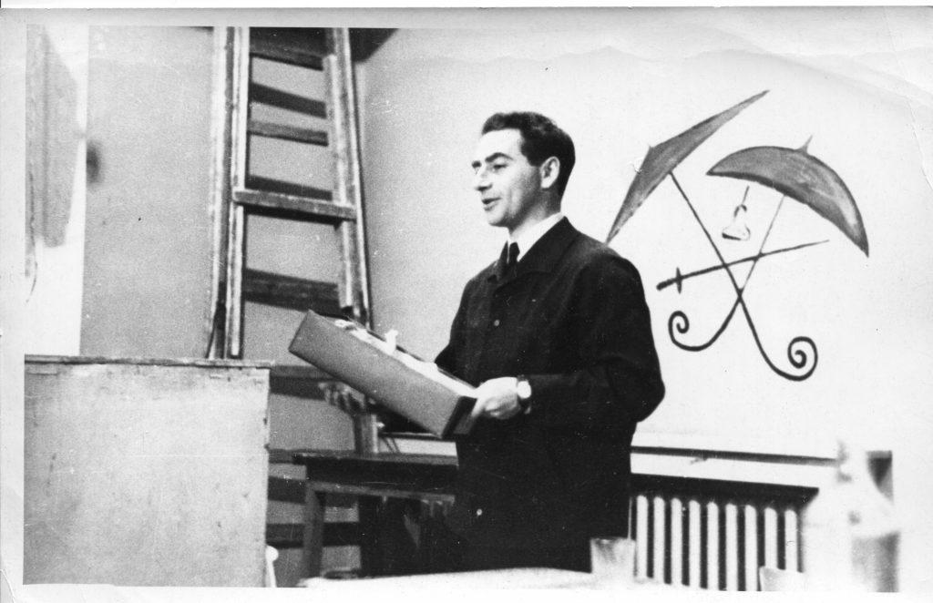Александр Городницкий в Ленинграде, 1970 год. Встреча с учениками 456 школы