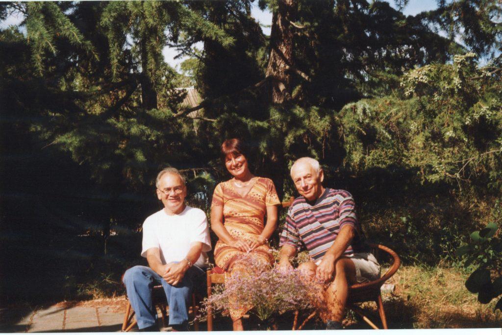 Александр Городницкий, Анна Наль и Александр Кушнер, Коктебель, август 1998 года
