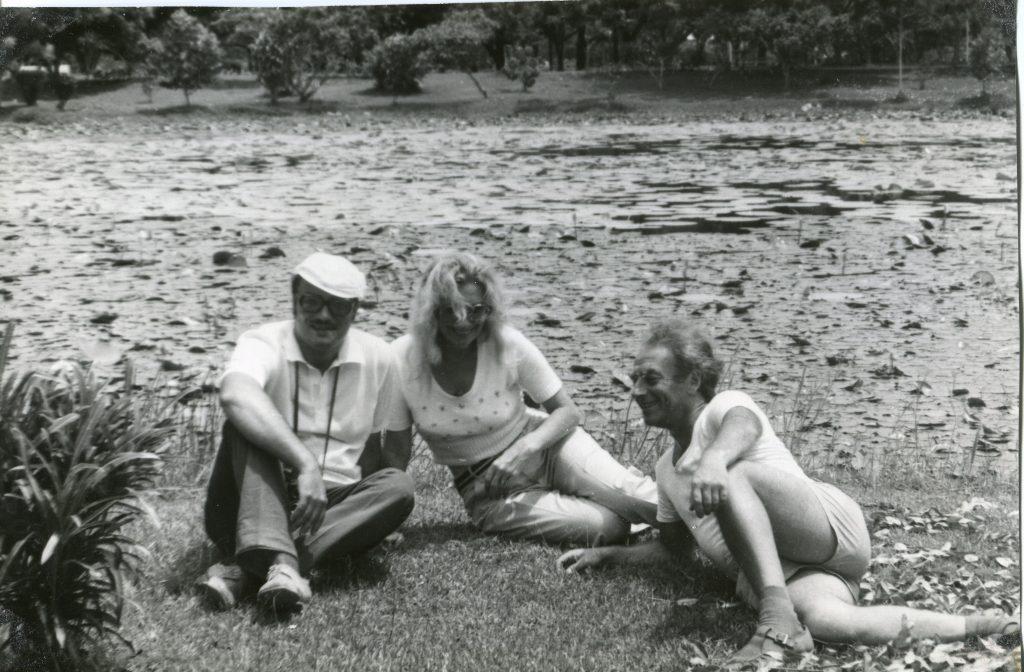 Александр Городницкий, Тамара Щеголькова и Юрий Сузюмов в Новой Гвинее, 1978 год