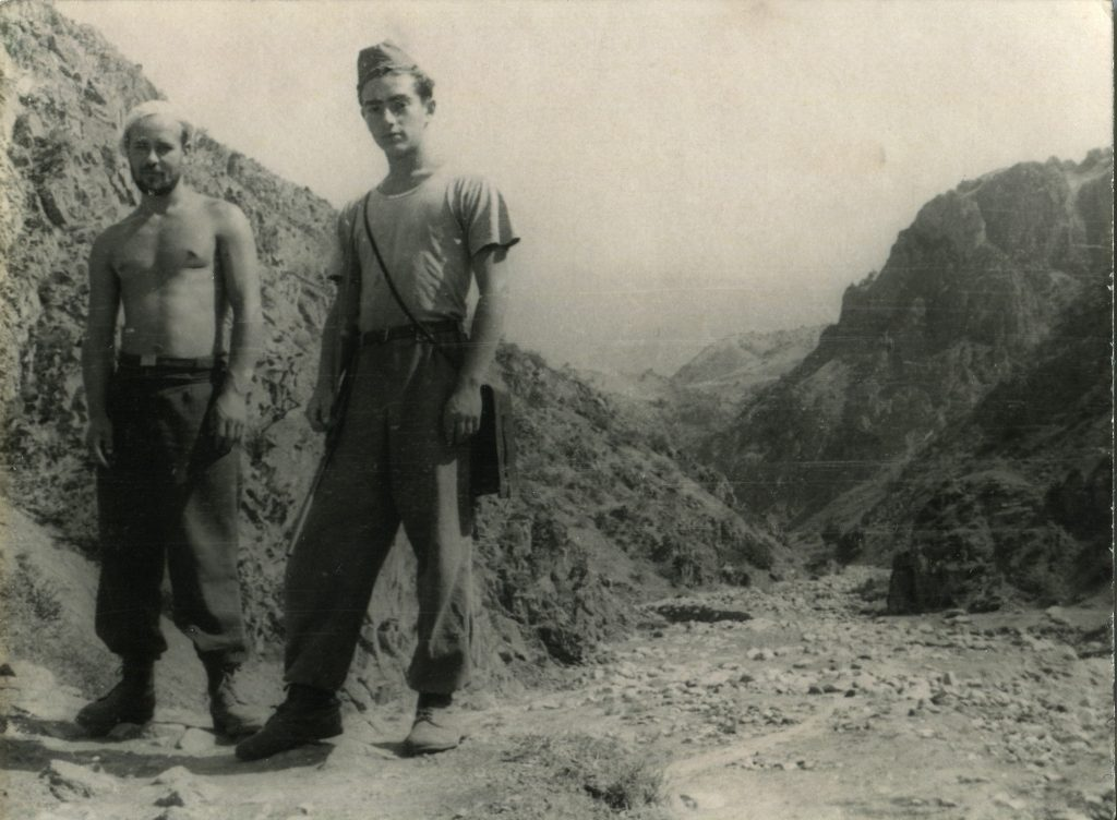 Александр Городницкий в экспедиции на Гиссарском хребте 1955 год