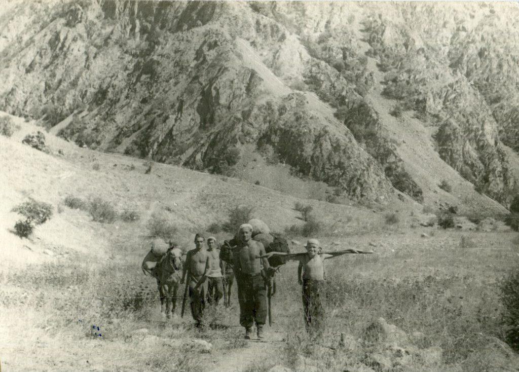 Александр Городницкий в экспедиции на Гиссарском хребте, 1956 год