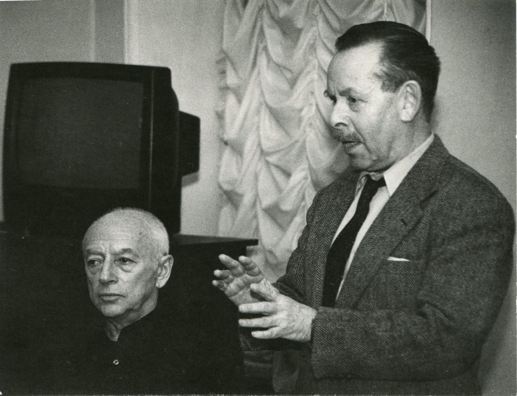 С Яковом Гординым, Фонтанный дом, Санкт-Петербург