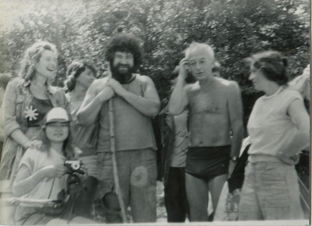 Александр Городницкий и Сергей Каплан на Грушинском фестивале, 1991 год