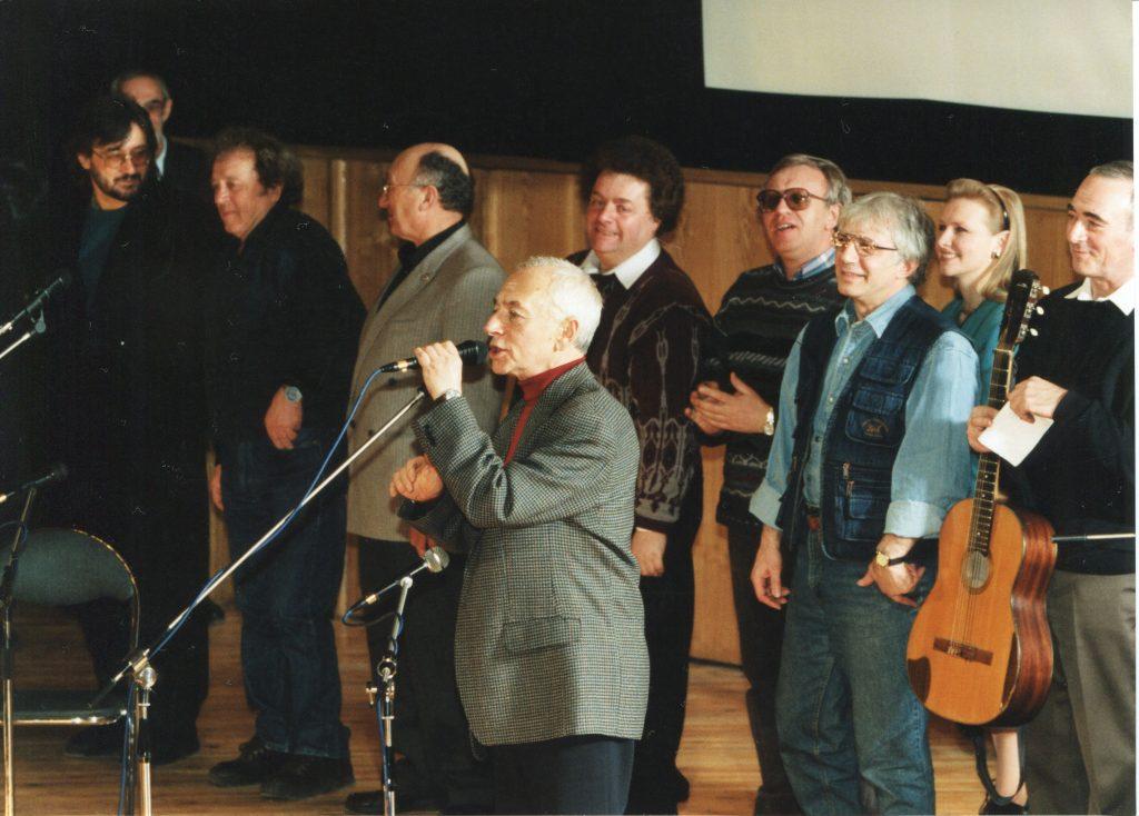 Юбилей Александра Городницкого в Политехническом музее, Москва, 24.03.1998