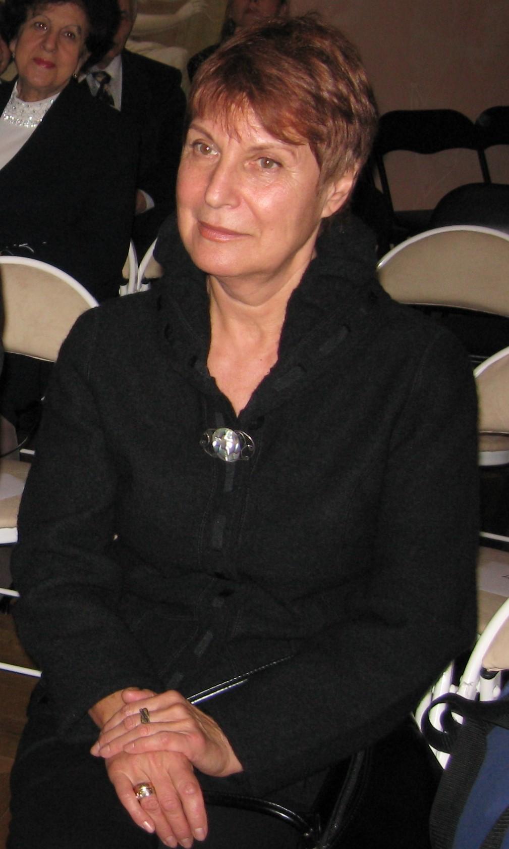 Анна Наль на вручкнии Царскосельской премии,, 2007 год
