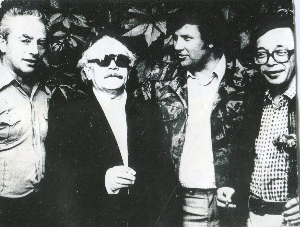 С Давидом Самойловым и Юлием Кимом