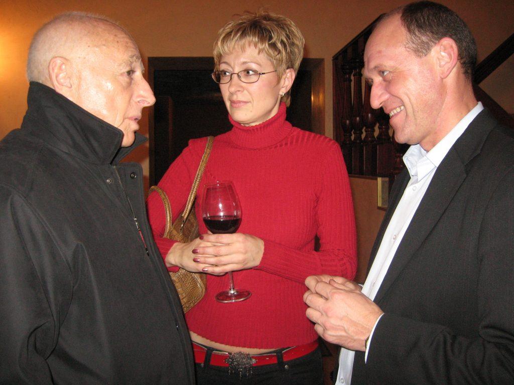 С Ириной и Валерием Чечетами.