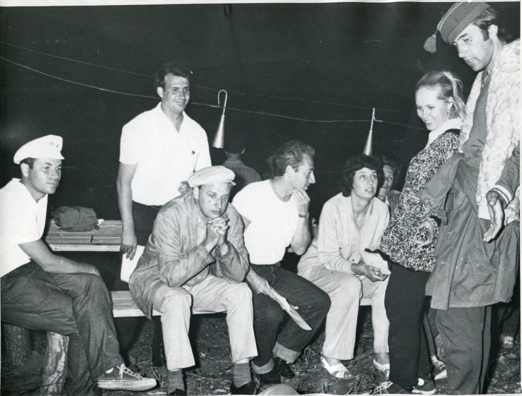 Александр Городницкий на Грушинском фестивале, 1975 год