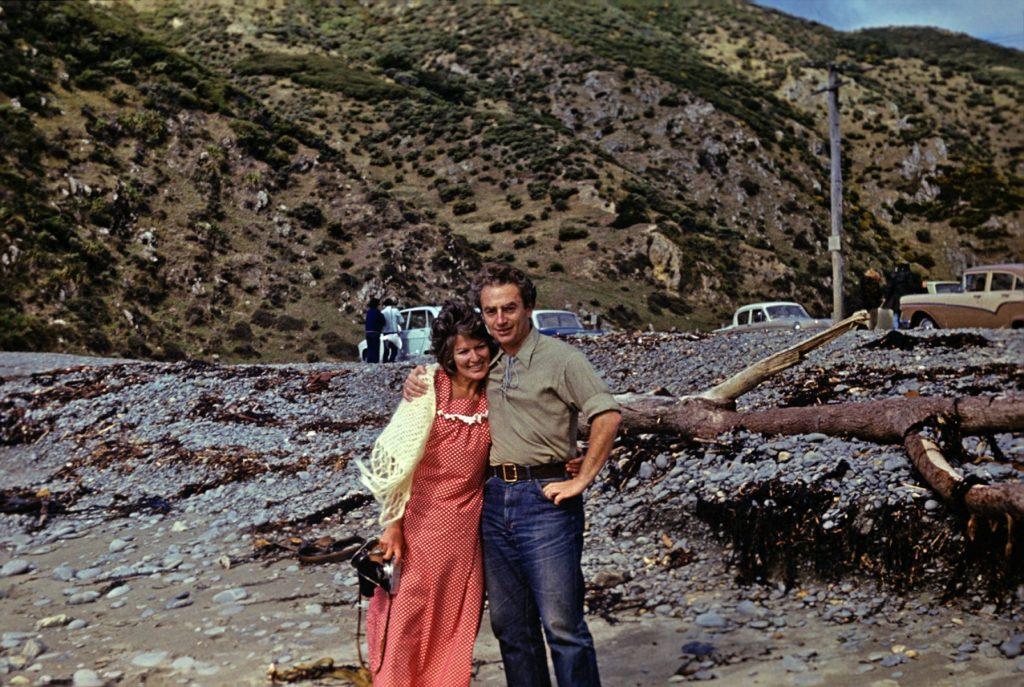 С Джуди Холовей, Веллингтон, 1974 год