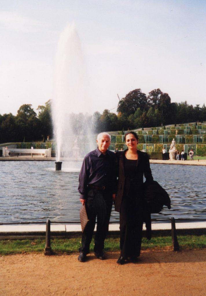 С Натальей Касперович, Сан-Суси, 2000 год