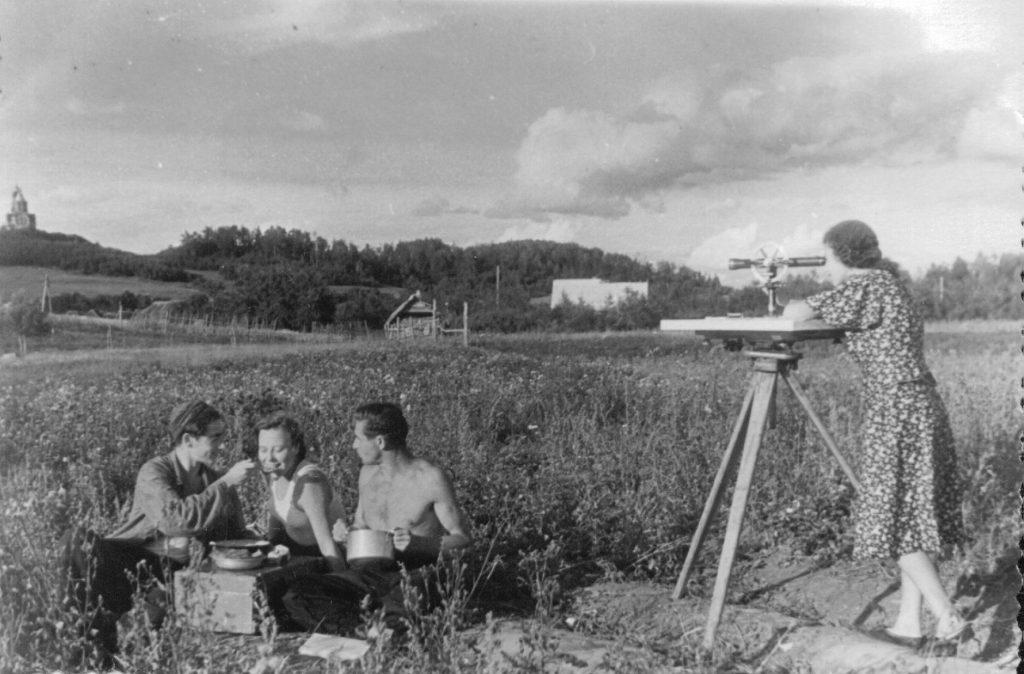 На практике в Вышгороде, лето 1952 года
