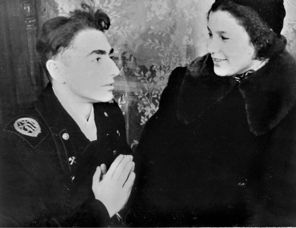 С Владой Романовской, Ленинград, 01.05.1954