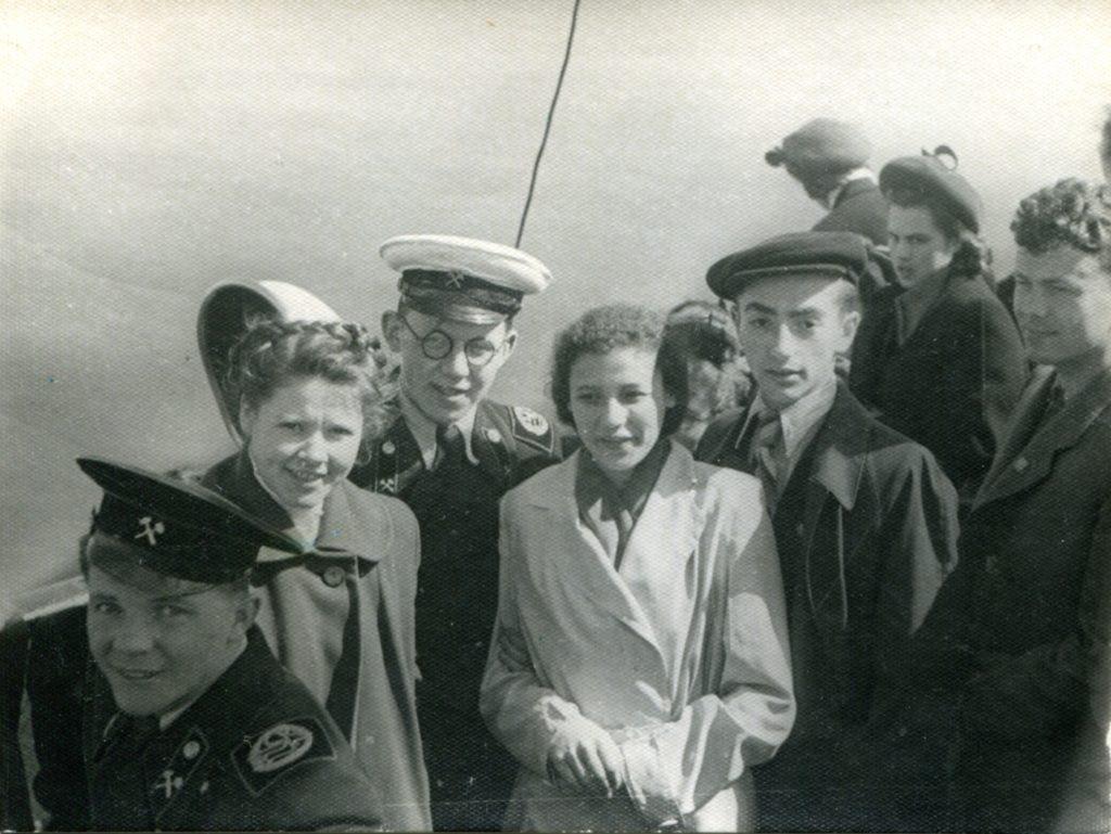 Александр Городницкий с первой женой Владой Романовской, Ленинград, 1953 год