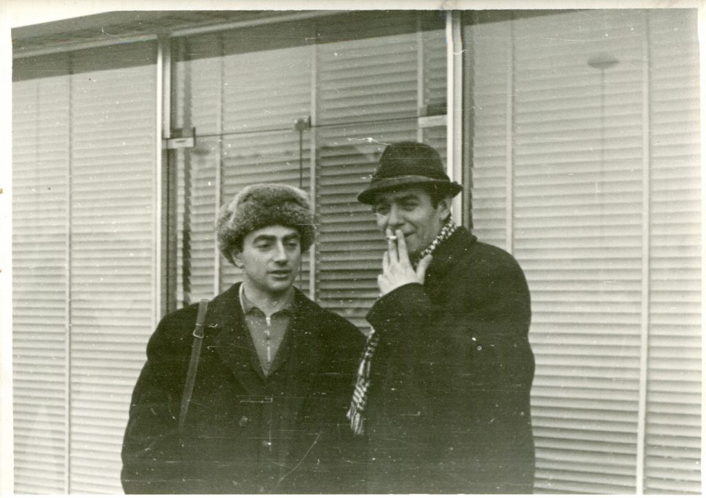 1968 год, Гренобль, Зимние Олимпийские игры, справа В. Никитенко