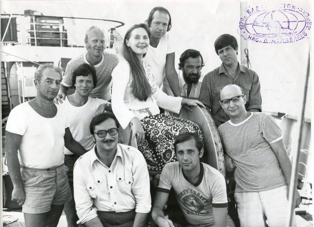 Александр Городницкий на НИС «Дмитрий Менделеев», 23-й рейс, 1979 год