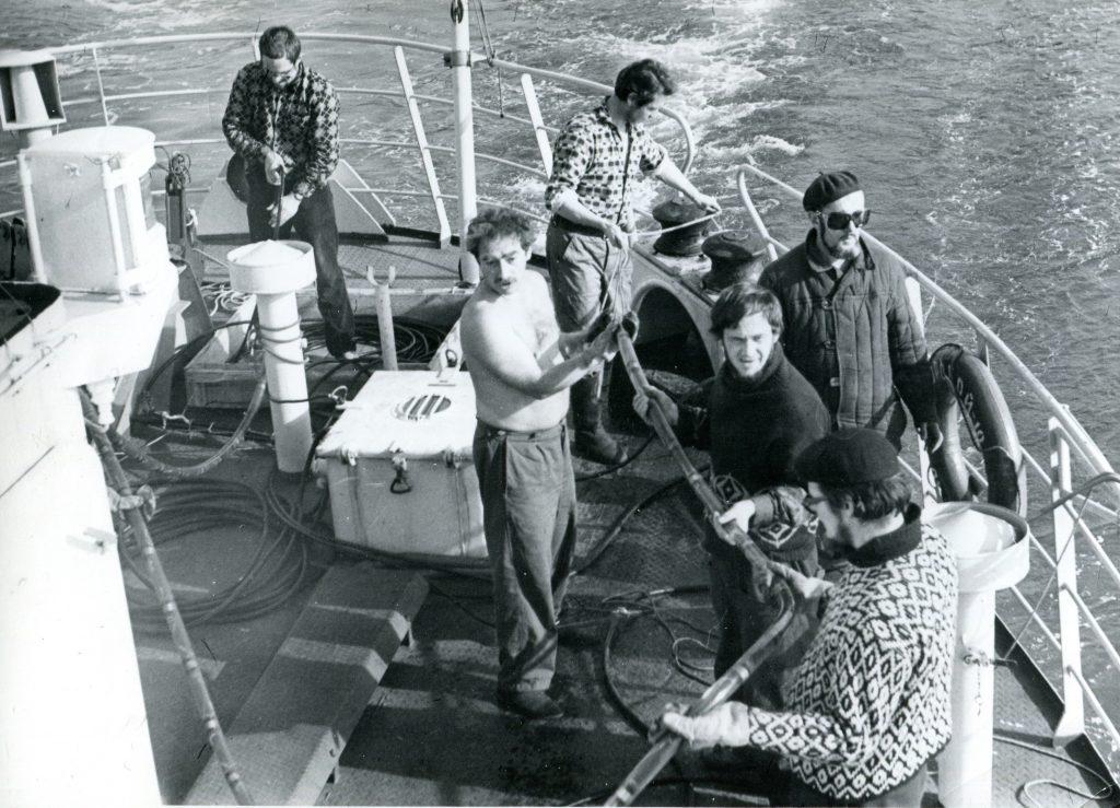 Александр Городницкий на судне «Морской-10», Карское море, 1972 год