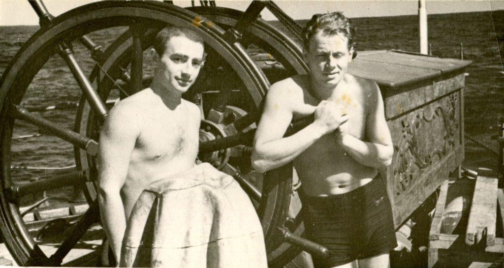 На борту ЭОС «Крузенштерн» 1963 год