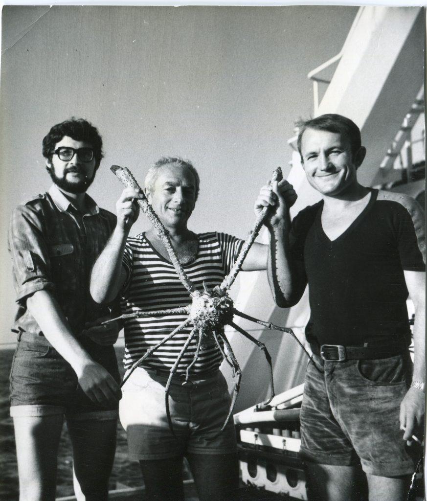 1984 год, НИС «Витязь», Тирренское море, слева Сергей Холмов, справа Виталий Булыга