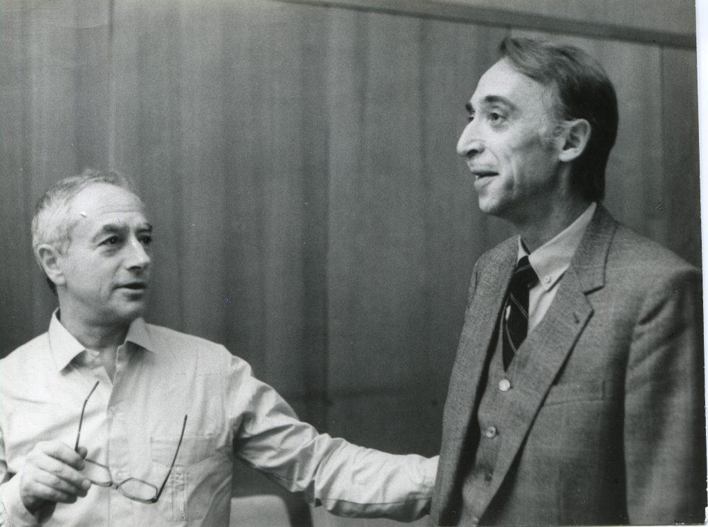 С Александром Ивановым, Москва, 1988 год