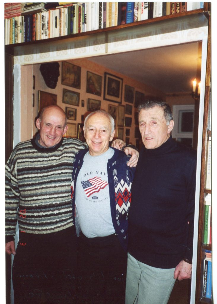Александр Штейнберг, Александр Городницкий, Генрих Штейнберг, Москва, 2002 год