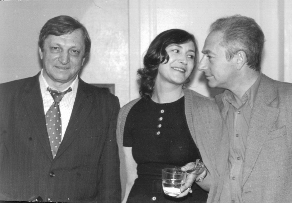Александр Городницкий, Виктор Берковский и Ляля Фрайтер, 1972 год