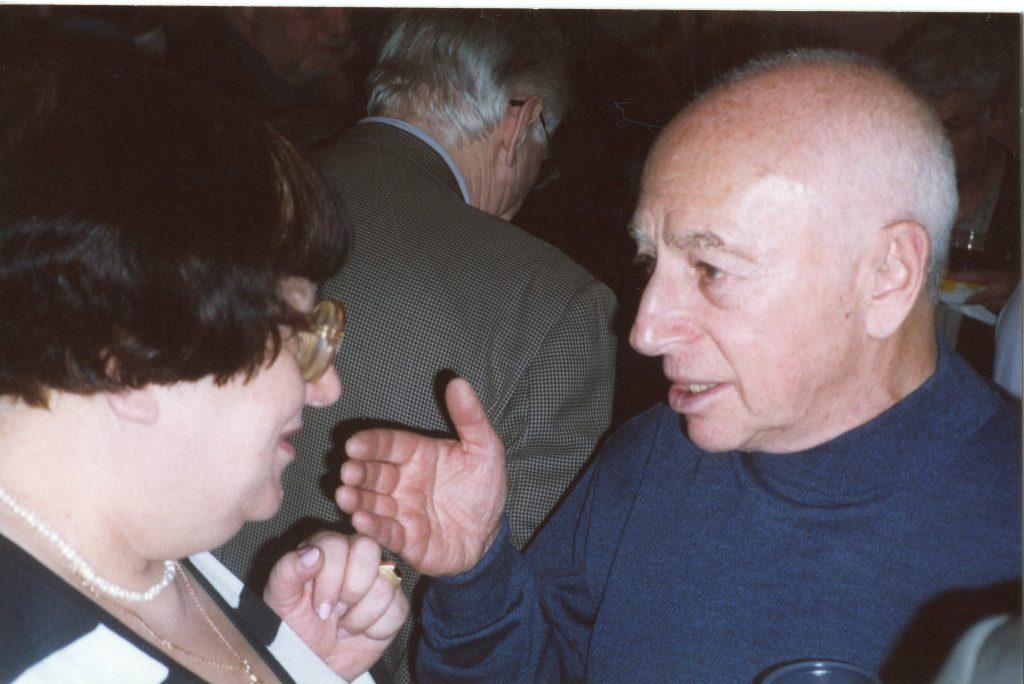 Александр Городницкий и Валерия Новодворская в Московском Доме журналиста, 2005 год