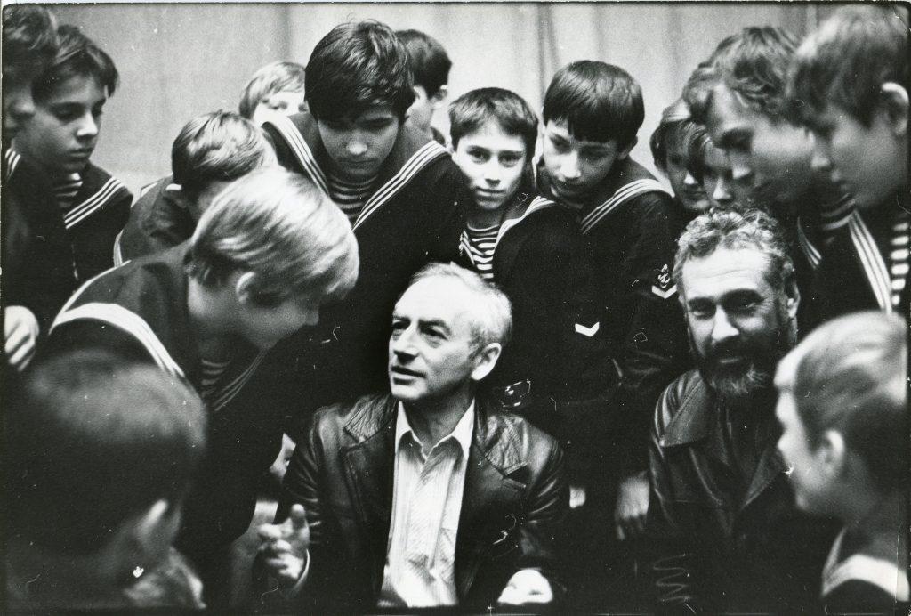Москва, Политехнический музей, встреча с юными моряками, январь 1986 года