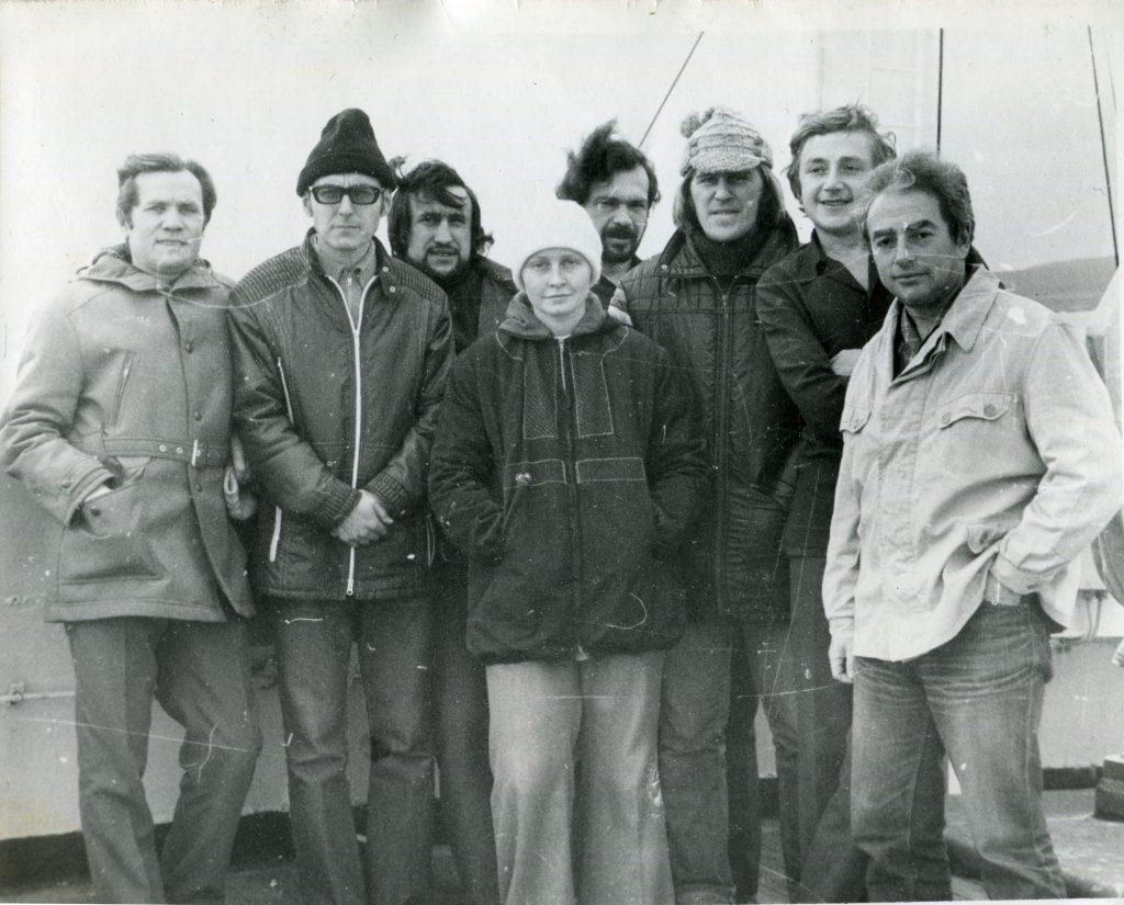 17-й рейс НИС «Дмитрий Менделеев», Охотское море, 1976 год.