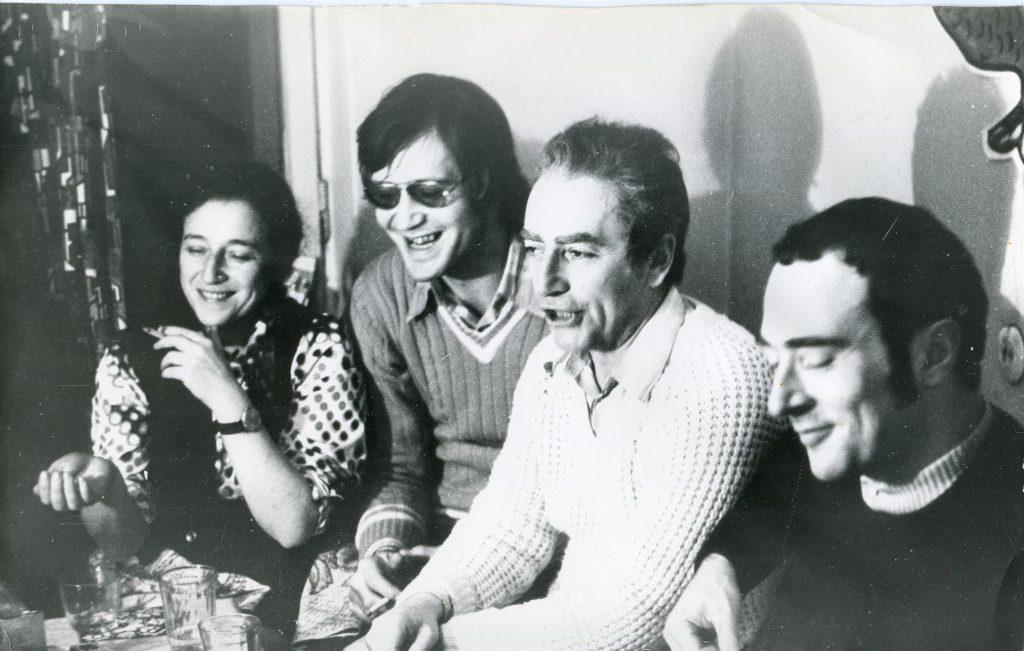 Александр Городницкий с Михаилом Кане и Анной Яшунской, Ленинград, январь 1978 года