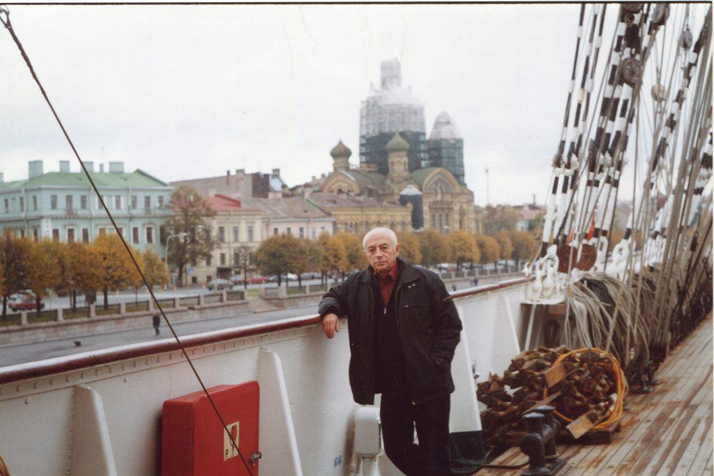 На паруснике «Седов», Санкт-Петербург, 07.10.2004