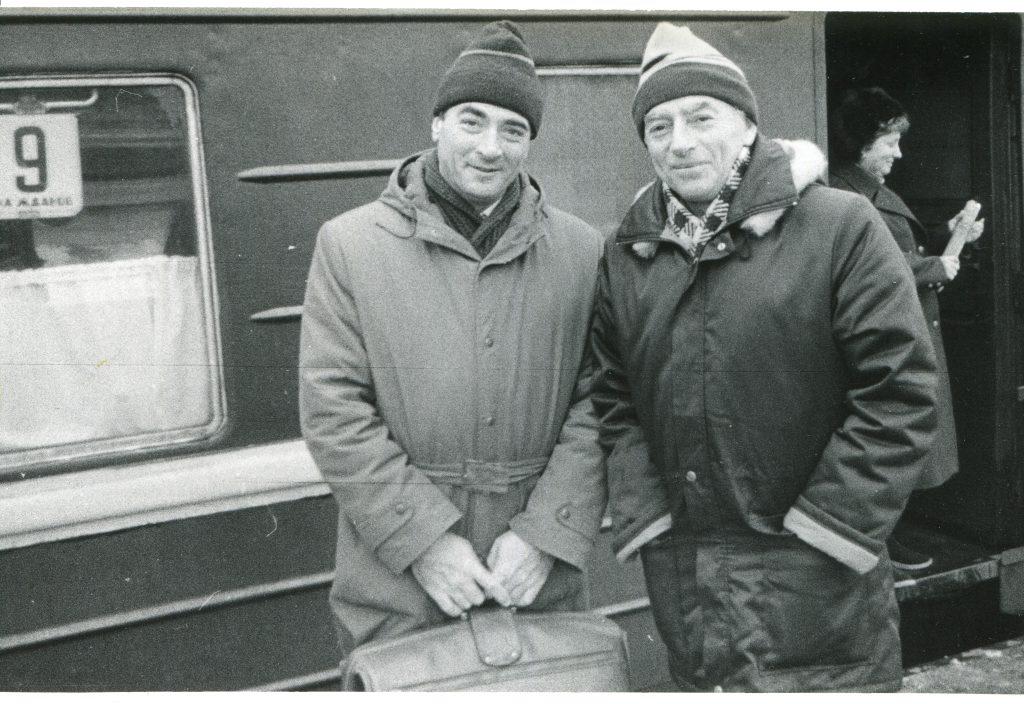 С Михаилом Кане, ноябрь 1988 года, Ленинград